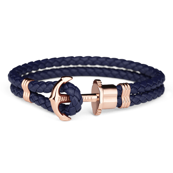 Paul Hewitt Anchor PHREP IP Rose Gold Navy Blue PH-PH-L-R-N-S