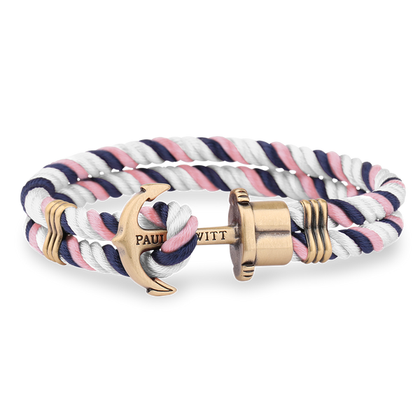 Paul Hewitt-Anchor PHREP Brass Navy Blue-Pink-White-Jewellery-THE UNIT STORE