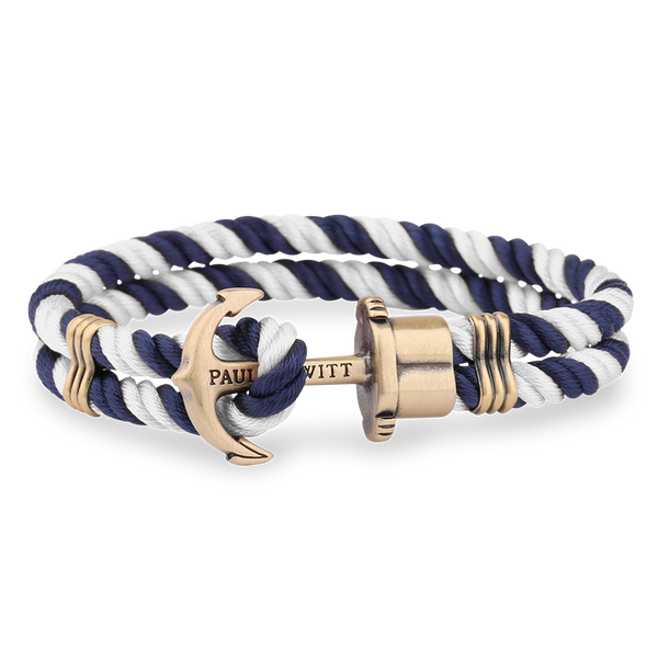 Paul Hewitt-Anchor PHREP Brass Navy Blue-White-Jewellery-THE UNIT STORE