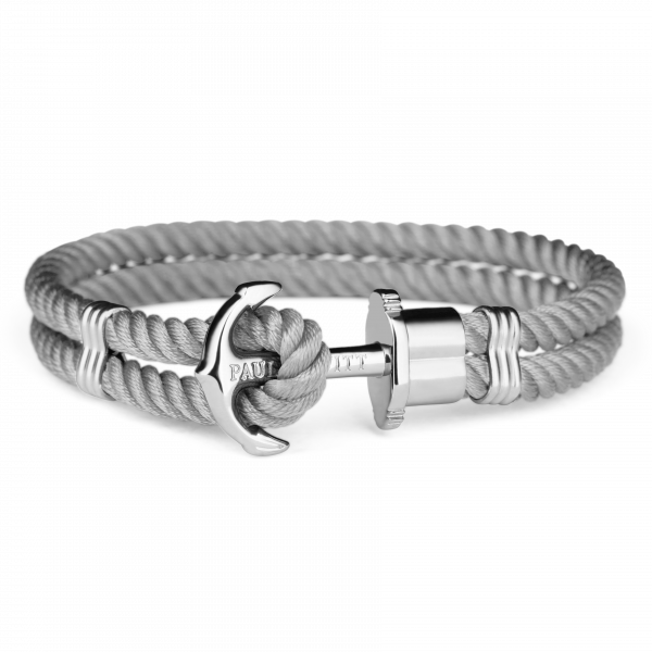 Paul Hewitt-Anchor PHREP Stainless Steel Nylon Grey-Jewellery-THE UNIT STORE