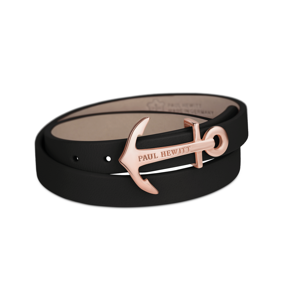 Paul Hewitt-NORTH BOUND IP Rose Gold Black-Jewellery-PH-WB-R-2S-THE UNIT STORE