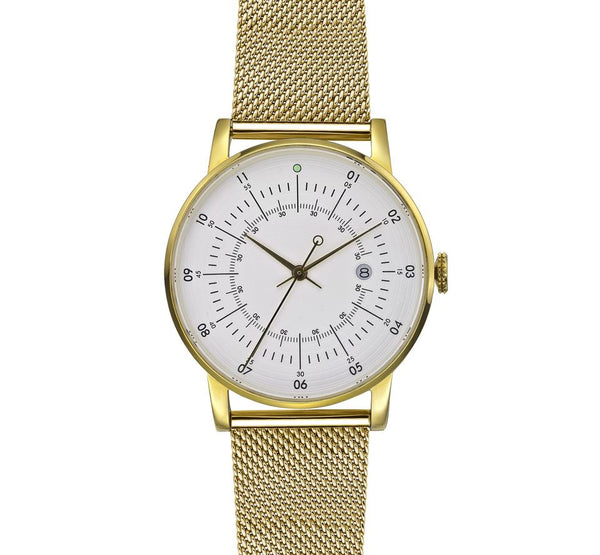 Squarestreet-Gold Offwhite Dial Gold Milanese Strap-Watch-SQ38 PS-76-THE UNIT STORE