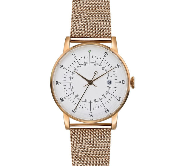 Squarestreet-Rose Gold Offwhite Dial Rose Gold Milanese Strap-Watch-SQ38 PS-78-THE UNIT STORE
