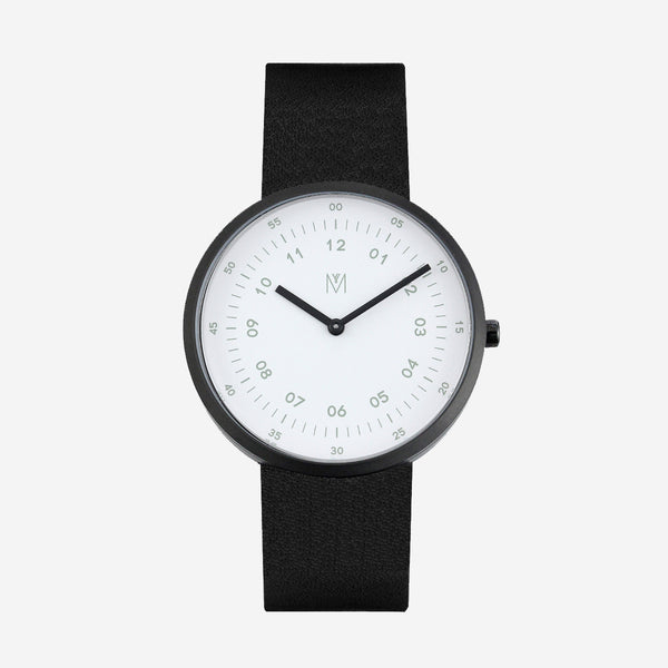 Maven-Papillon White/Black/Black Leather/40mm-Watch-WU MV1001MBKWBK-THE UNIT STORE