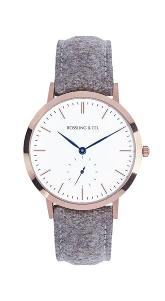 Rossling & Co.-Modern 36mm Aberdeen Gold White Beige Tweed-Watch-RO-003-005-THE UNIT STORE