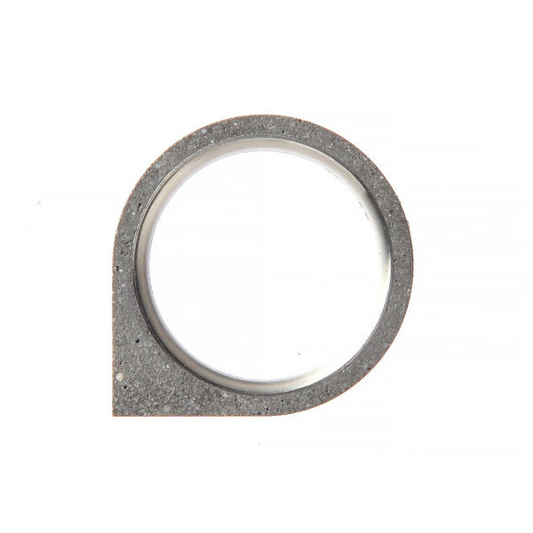 Corner Concrete Ring Thin Original Grey Concrete