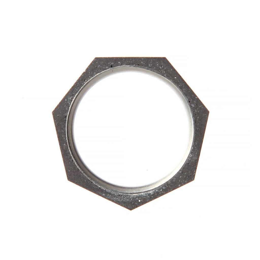 22 Design Studio-Seven Concrete Ring Thin Dark Grey Concrete-Jewellery-THE UNIT STORE
