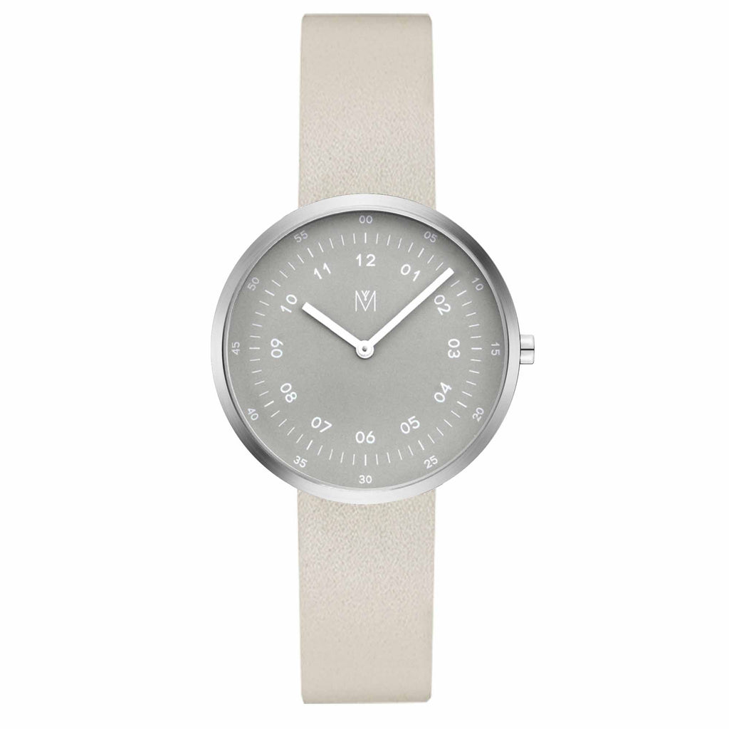 Smoke Green Green/Silver/Off-white Leather/34mm__Maven_Watch_THE UNIT STORE