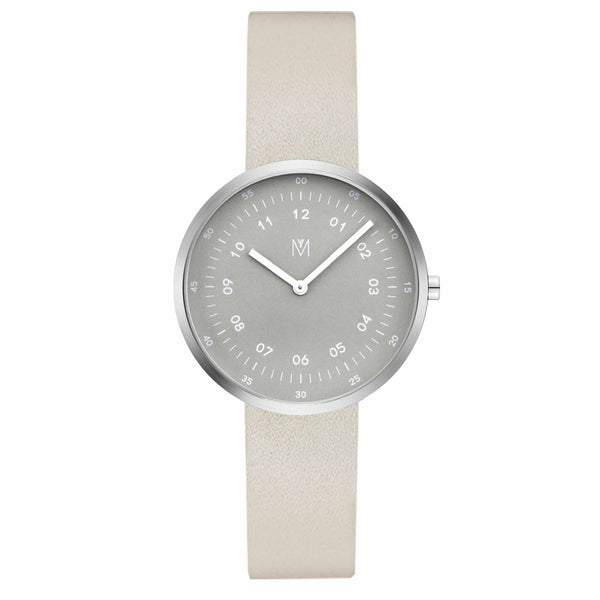 Maven-Smoke Green Green/Silver/Off-white Leather/34mm-Watch-WU MV1001LPIGOW-THE UNIT STORE