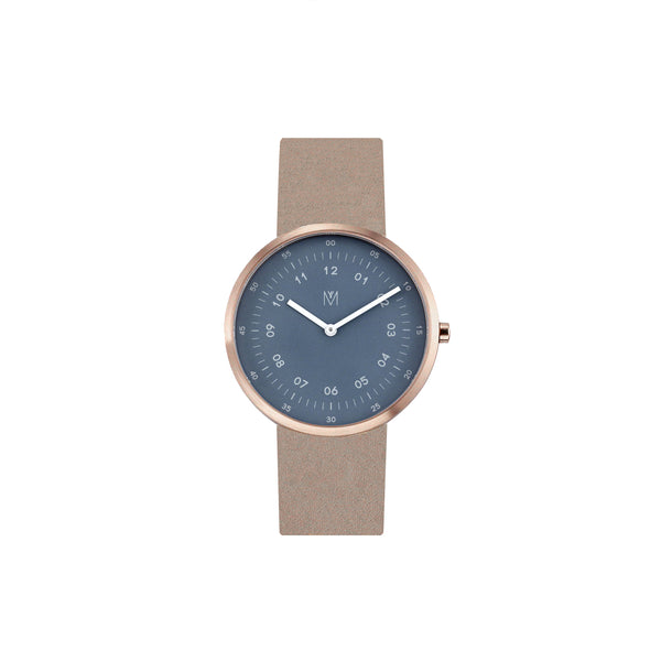 Maven Storm Cloud Blue/Rose Gold/Camel Leather/40mm WU MV1001MRGPBCL