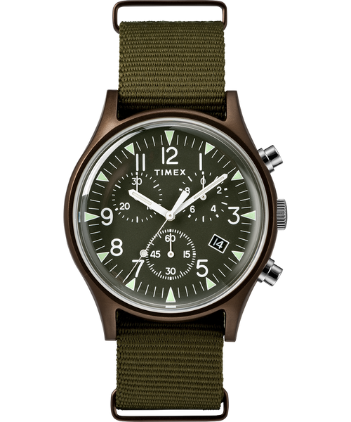 Timex-MK1 Aluminium Chrono / Green / Green / Green / 40mm-Watch-TW2R678-THE UNIT STORE