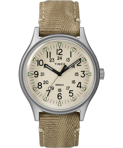 Timex-MK1 Steel / Off White / Silver / Beige / 40mm-Watch-TW2R680-THE UNIT STORE
