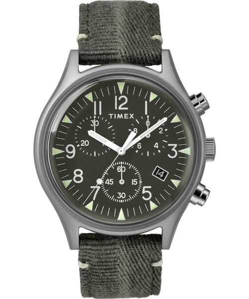 Timex-MK1 Steel Chrono / Green / Silver / Green / 42mm-Watch-TW2R686-THE UNIT STORE