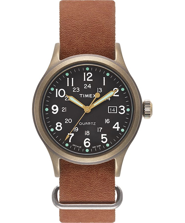 3f2614b0a458 Timex-Allied Stonewashed Leather Strap-Watch-TW2T423-THE UNIT STORE