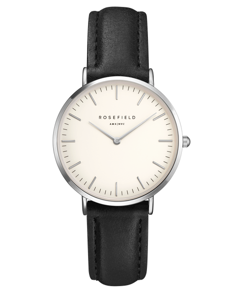 Rosefield-The Tribeca White Black Silver-Watch-RF-TWBLS-T54-THE UNIT STORE