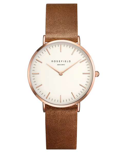 The Tribeca White Brown Rose Gold