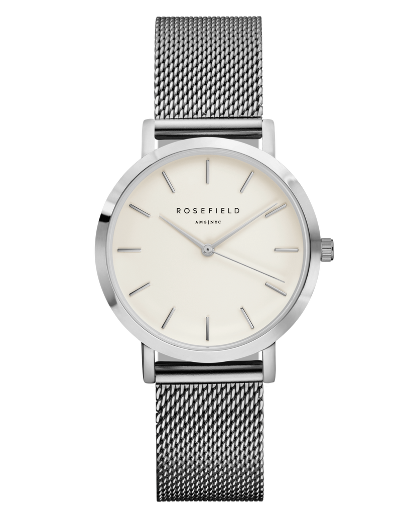 The Tribeca White Silver__Rosefield_Watch_THE UNIT STORE