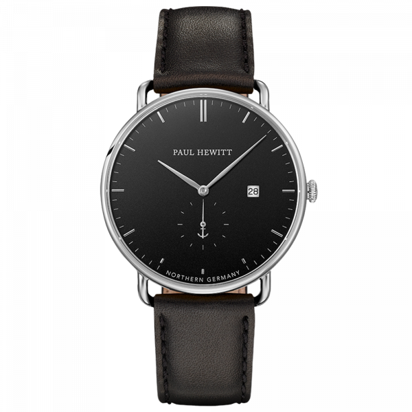 Grand Atlantic Black Sea Steel Leather Black__Paul Hewitt_Watch_THE UNIT STORE