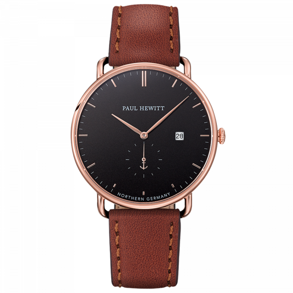 Paul Hewitt-Grand Atlantic Black Sea Rose Gold Leather Brown-Watch-PH-TGA-R-B-1S-THE UNIT STORE