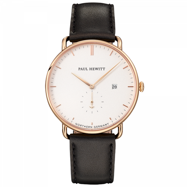 Paul Hewitt-Grand Atlantic White Sand Gold Leather Black-Watch-PH-TGA-G-W-2S-THE UNIT STORE