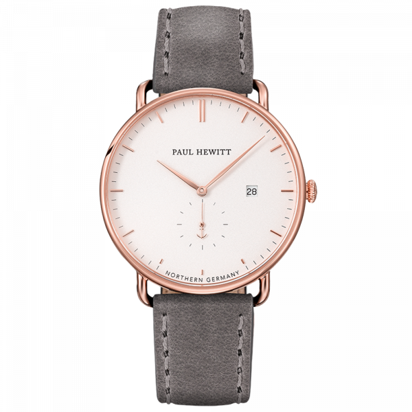 Paul Hewitt-Grand Atlantic White Sand Rose Gold Leather Grey-Watch-PH-TGA-R-W-13S-THE UNIT STORE