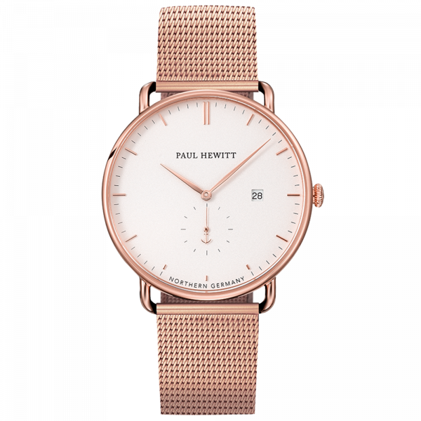 Paul Hewitt-Grand Atlantic White Sand Rose Gold Metal Strap-Watch-PH-TGA-R-W-4S-THE UNIT STORE