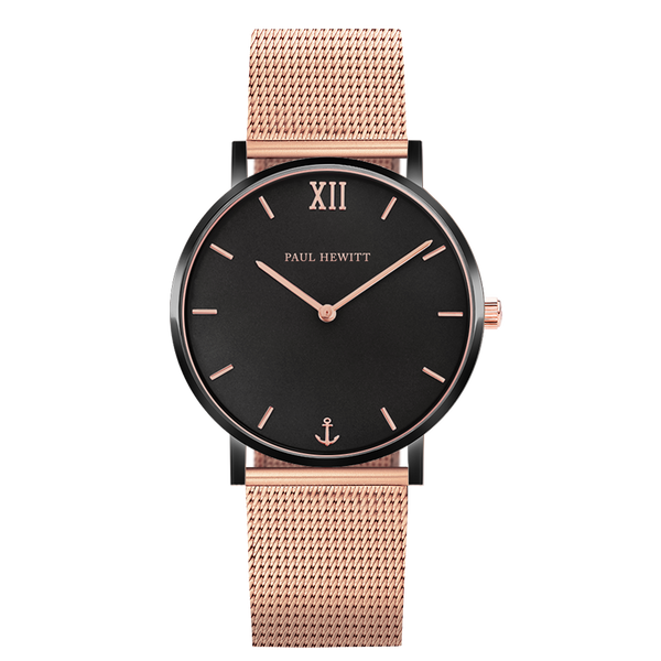 Paul Hewitt-Sailor Line IP Black/Rose Gold 39mm-Watch-PH-SA-B-BSR-R5S-THE UNIT STORE
