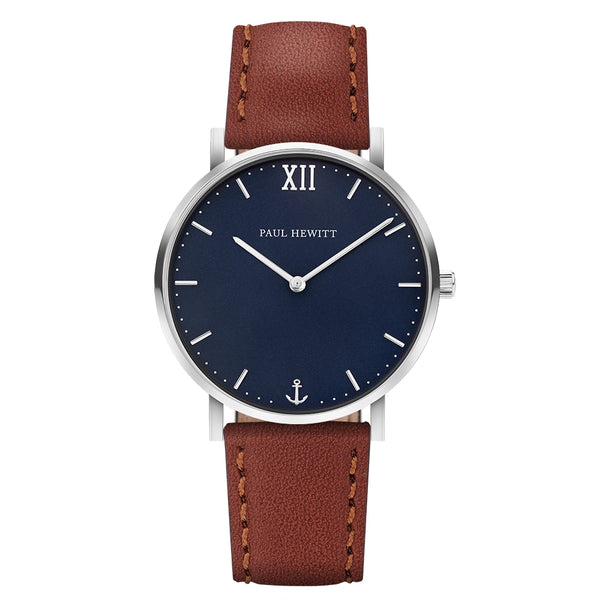 Paul Hewitt-Sailor Line Blue/Steel/Brown/39mm-Watch-PH-SA-S-ST-B-1S-THE UNIT STORE