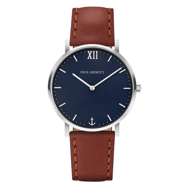 Paul Hewitt-Sailor Line Blue Lagoon S.S Leather Brown-Watch-PH-SA-S-Sm-B-1S-THE UNIT STORE
