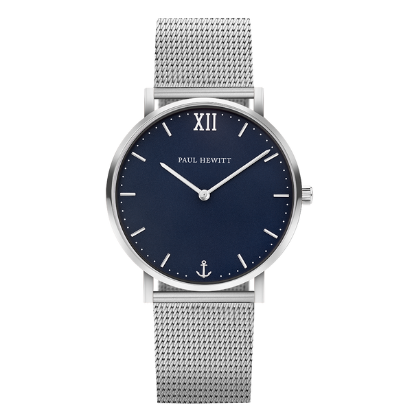 Paul Hewitt-Sailor Line Blue Lagoon Steel 39mm Mesh-Watch-PH-SA-S-St-B-4S-THE UNIT STORE