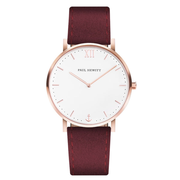 Paul Hewitt-Sailor Line White/Rose Gold/Dark Berry/36 mm-Watch-PH-SA-R-SM-W-36S-THE UNIT STORE