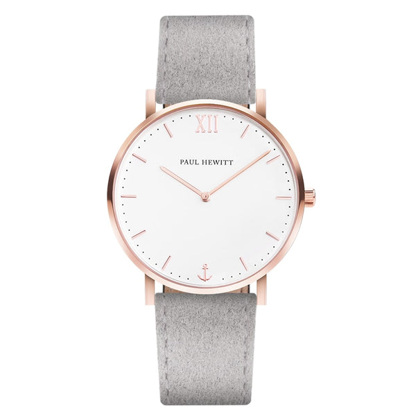 Sailor Line White/Rose Gold/Grey Leather/36mm__Paul Hewitt_Watch_THE UNIT STORE