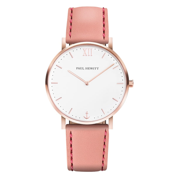 Paul Hewitt-Sailor Line White/Rose Gold/Pink/36mm-Watch-PH-SA-R-SM-W-24S-THE UNIT STORE