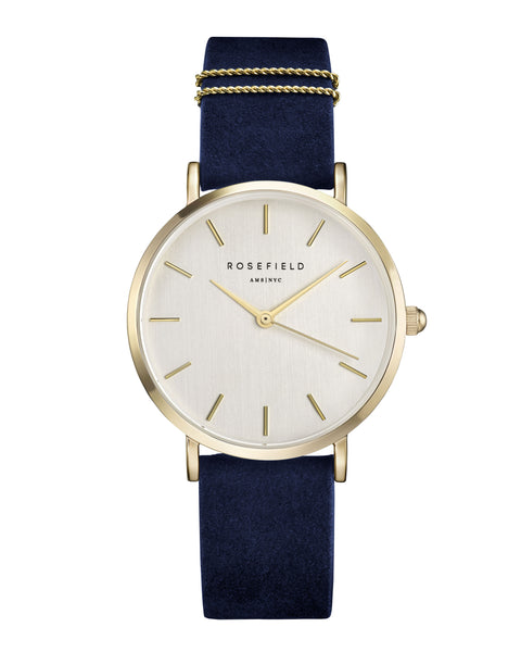 Rosefield-The West Village Blue Gold-Watch-RF-WBUG-W70-THE UNIT STORE