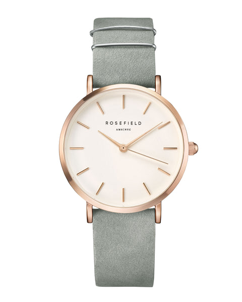 Rosefield-The West Village Mint Grey Rose Gold-Watch-RF-WMGR-W74-THE UNIT STORE