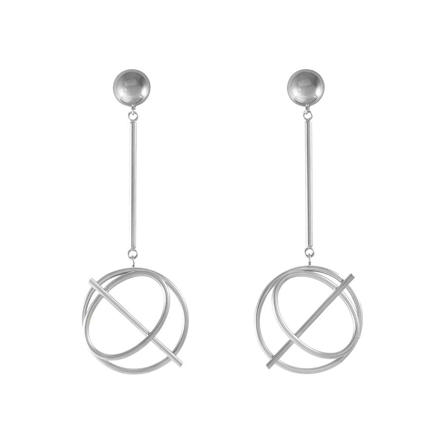 Wanderlust + Co-Infusion Silver Drop Earrings-Watch-W-E723S-THE UNIT STORE