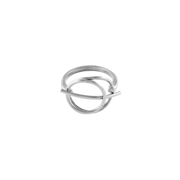 Wanderlust + Co-Infusion Silver Ring - Size 7-Watch-W-R705S-THE UNIT STORE