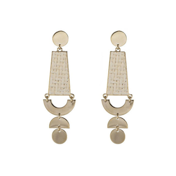 Wanderlust + Co-Lilia Gold & Ivory Earrings-Jewellery-W-E653G/IV-THE UNIT STORE