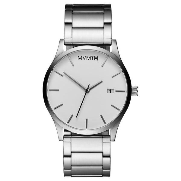MVMT-Mens Classic White Silver 45 mm-Watch-D-L213.1B.131-THE UNIT STORE