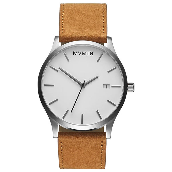 MVMT-Mens Classic White Tan 45 mm-Watch-D-L213.1L.331-THE UNIT STORE
