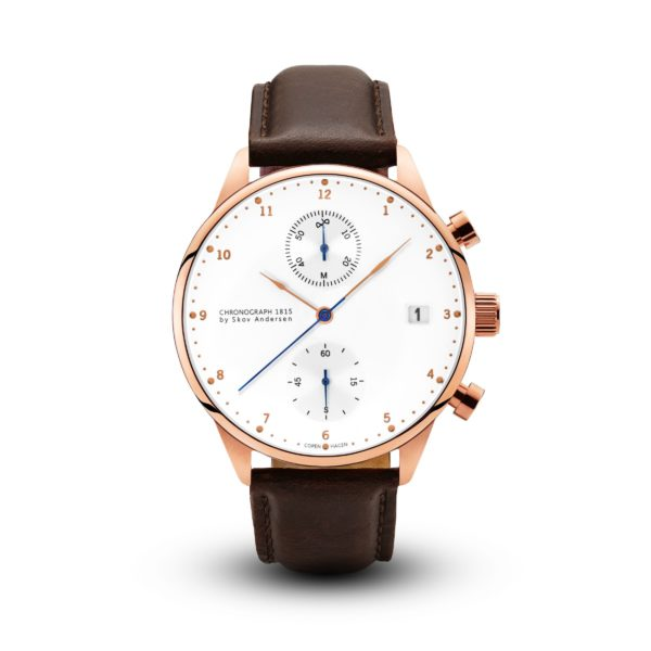 About Vintage-1815 Chronograph, Rose Gold Brown-Watch-1815WH-R-DB-THE UNIT STORE