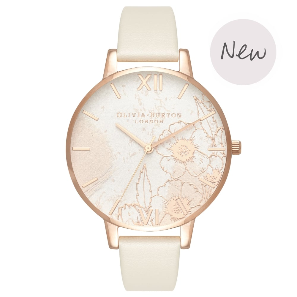 OLIVIA BURTON-Abstract Florals Vegan Nude & Rose Gold-Watch-OB16VM25-THE UNIT STORE