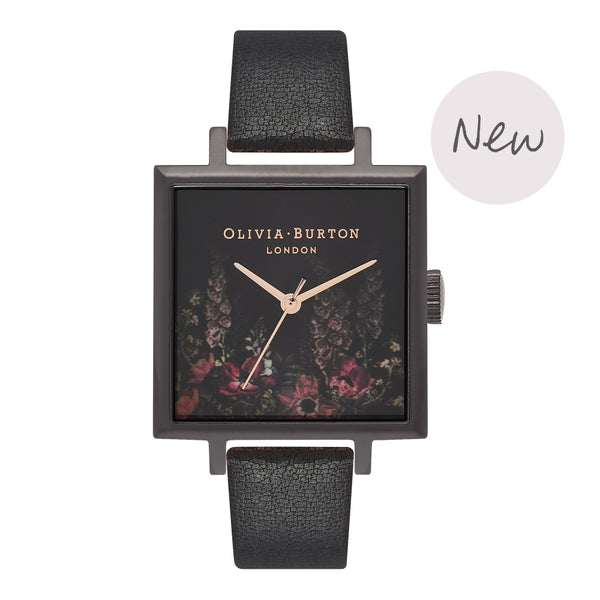 OLIVIA BURTON-After Dark Square Dial Ip Black & Rose Gold-Watch-OB16AD17-THE UNIT STORE