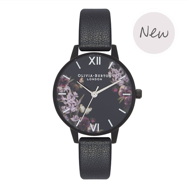 OLIVIA BURTON-After Dark Black & Black Ip-Watch-OB16AD22-THE UNIT STORE