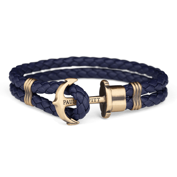 Paul Hewitt-Anchor PHREP Brass Navy Blue-Jewellery-THE UNIT STORE