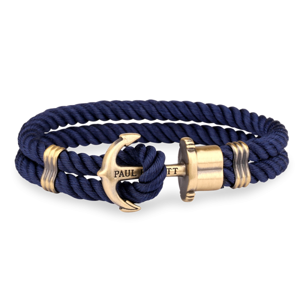 Paul Hewitt-Anchor PHREP Brass Nylon Navy Blue-Jewellery-THE UNIT STORE
