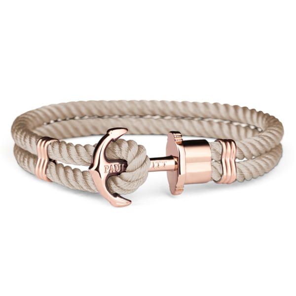 Paul Hewitt-Anchor PHREP Rose Gold Nylon Hazelnut-Jewellery-THE UNIT STORE
