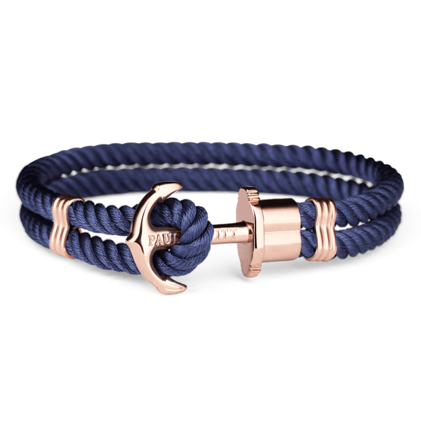 Paul Hewitt-Anchor PHREP Rose Gold Nylon Navy-Jewellery-THE UNIT STORE