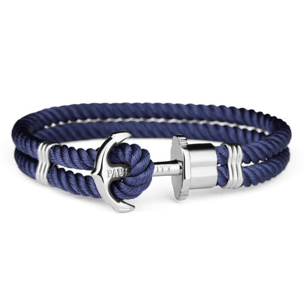 Paul Hewitt-Anchor PHREP Stainless Steel Nylon Navy-Jewellery-THE UNIT STORE