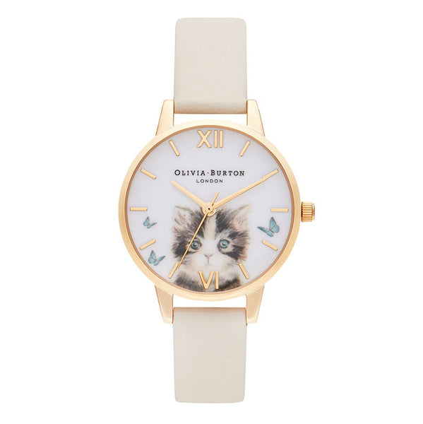 OLIVIA BURTON-Illustrated Animals Vegan Nude & Gold-Watch-OB16WL75-THE UNIT STORE